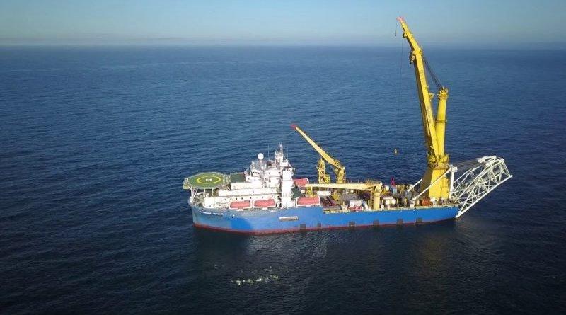 The Russian pipellaying vessel 'Akademik Cherskiy' [YouTube]