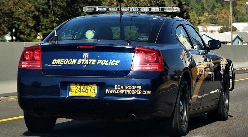 An Oregon State Police car. Photo Credit: Matt Zalewski, Wikipedia Commons