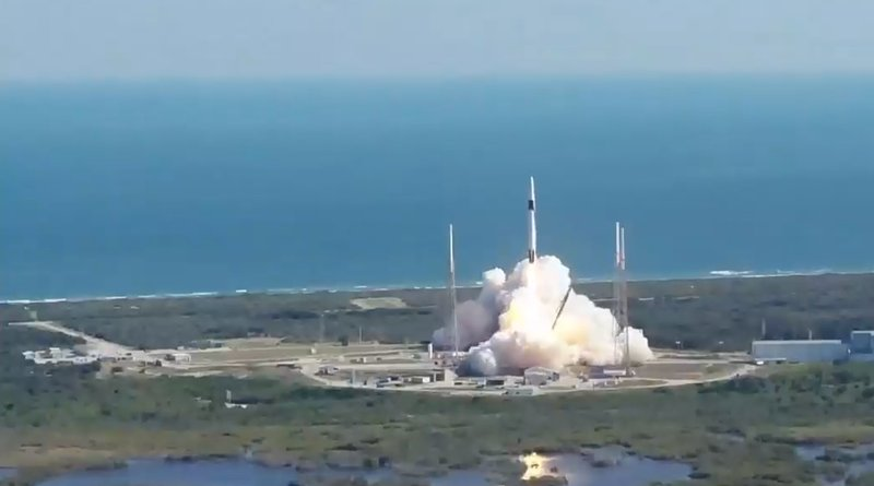 SpaceX launches its 19th cargo resupply mission to the International Space Station from Space Launch Complex 40 at Cape Canaveral Air Force Station in Florida. Credits: NASA TV
