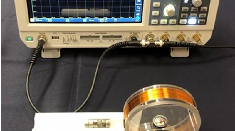 Photo shows the experimental setup. CREDIT Barsukov lab, UC Riverside.