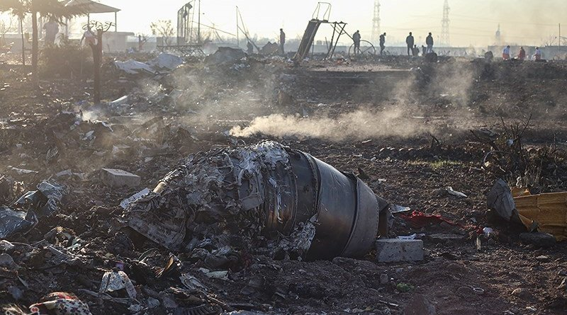 Wreckage from the Ukraine International Airlines Boeing 737-800 plane near Tehran, Iran. Photo Credit: Tasnim News Agency