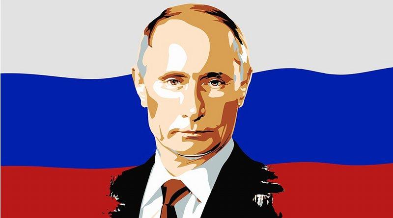 vladimir putin russia flag
