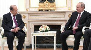 President of the Lebanese Republic Michel Aoun with Russia's President Vladimir Putin. Photo Credit. Kremlin.ru