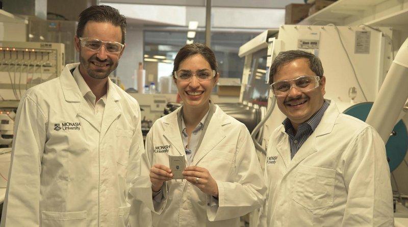 Associate Professor Matthew Hill, Dr. Mahdokht Shaibani and Professor Mainak Majumder. CREDIT Monash University
