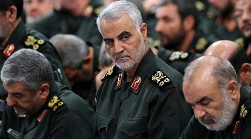 Iran's Revolutionary Guard General Qassem Soleimani. Photo released by the office of Iran's supreme leader.