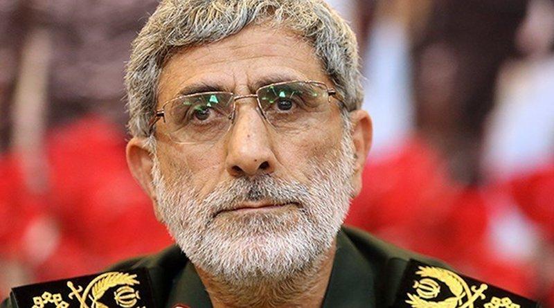 Iran's Esmail Qaani. Photo Credit: Tasnim News Agency
