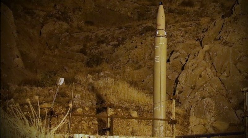 Iranian missile. Photo Credit: Tasnim News Agency