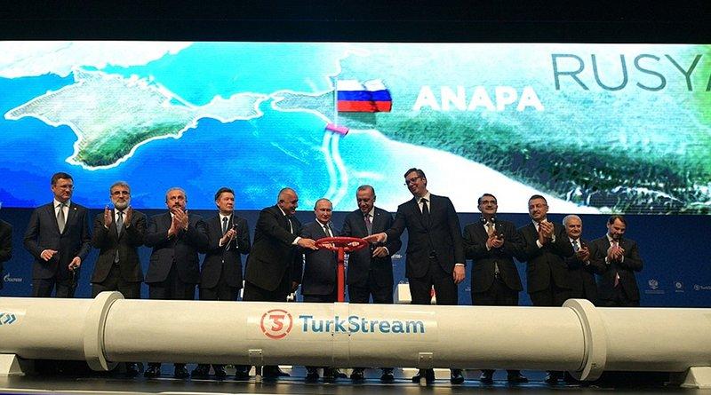 Ceremony to launch TurkStream gas pipeline. Photo Credit: Kremlin.ru