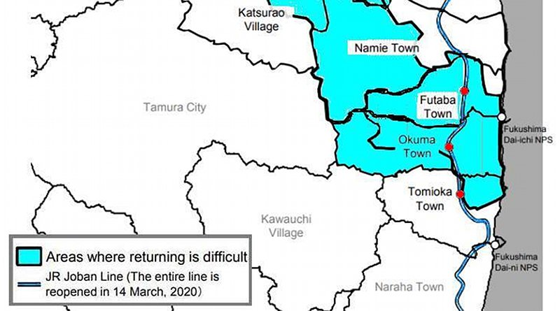 A map showing the affected area of Fukushima Prefecture (Image: METI/WNN)
