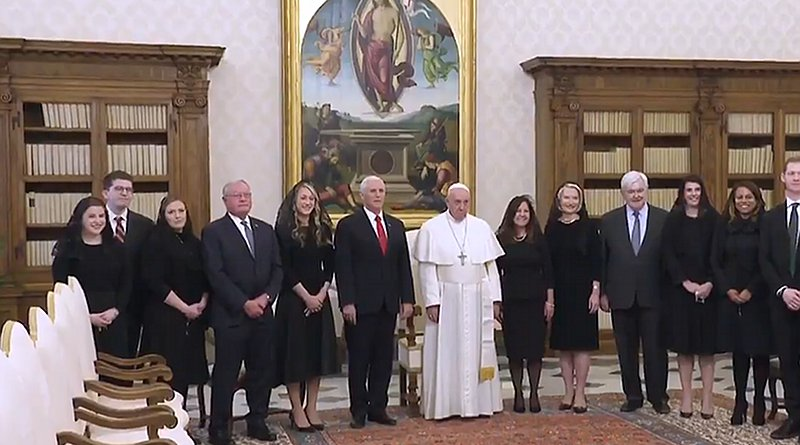 US Vice-President Mike Pence meets Pope Francis at Vatican. Photo Credit: White House video screenshot