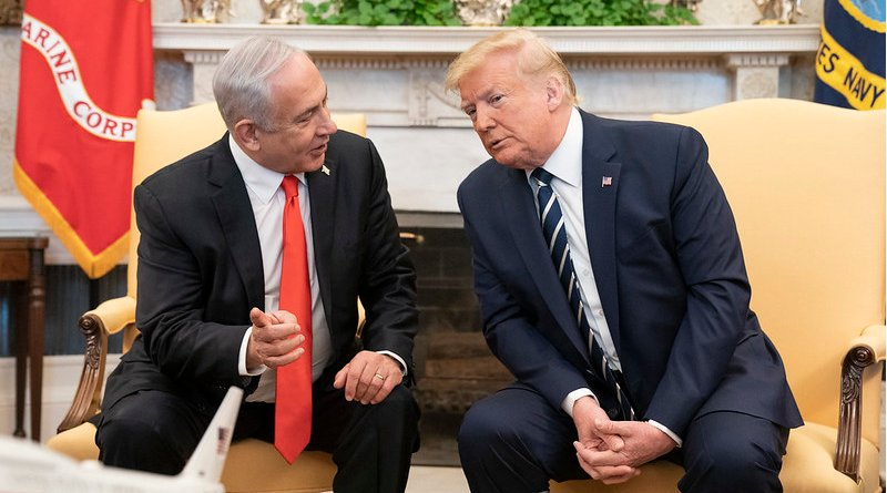 President Donald J. Trump participates in a bilateral meeting with Israeli Prime Minister Benjamin Netanyahu Monday, Jan. 27, 2020, in the Oval Office of the White House. (Official White House Photo by Shealah Craighead)