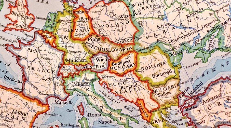 central europe eastern map