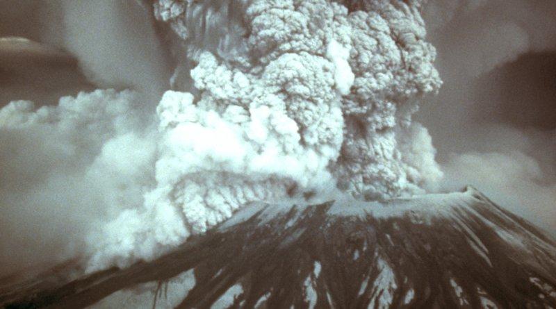 Mount St. Helens, Washington eruption in 1980. Photo Credit: Austin Post, Wikipedia Commons