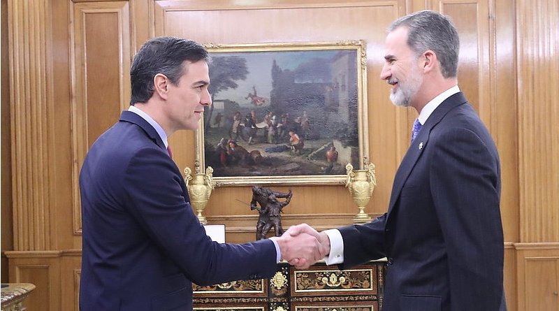Spain's Prime Minister Pedro Sánchez and King Felipe VI. Photo Credit: Moncloa