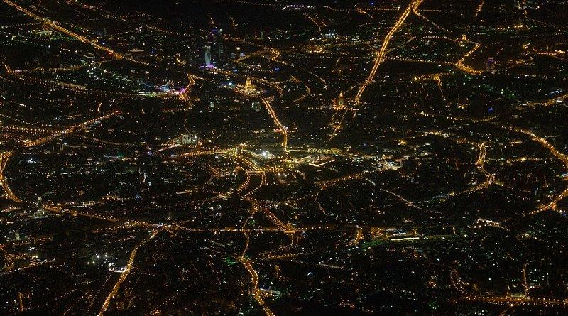 moscow city street night