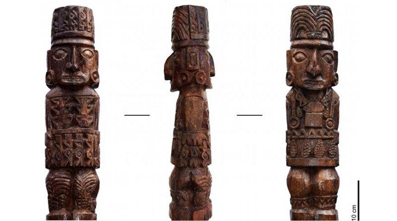 The wooden statue of the Pachacamac Idol. CREDIT Sepúlveda et al, 2020.