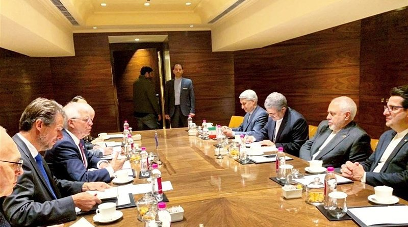 High Representative of the European Union Josep Borrell meets with Iranian Foreign Minister Mohammad Javad Zarif. Photo Credit: Tasnim News Agency