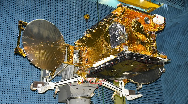 The GSAT-30 communications satellite. © Indian Space Research Organization