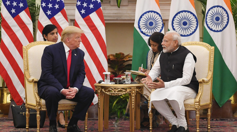 India's Prime Minister Shri Narendra Modi meeting the President of United States of America Donald Trump, at Hyderabad House, in New Delhi on February 25, 2020. Photo Credit: India PM Office