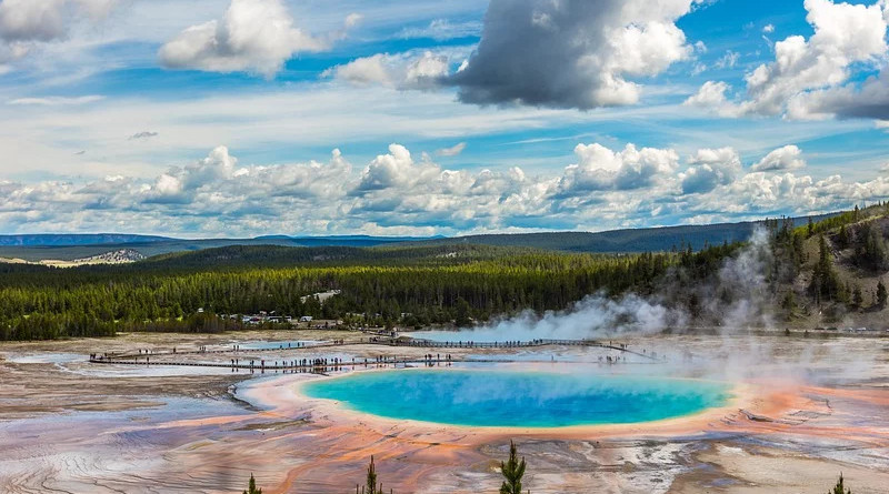 Yellowstone Landscape Travel Nature Nationalpark
