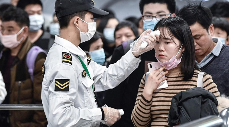 Travelers in China being scanned for possible infection of coronavirus. Photo Credit: Tasnim News Agency
