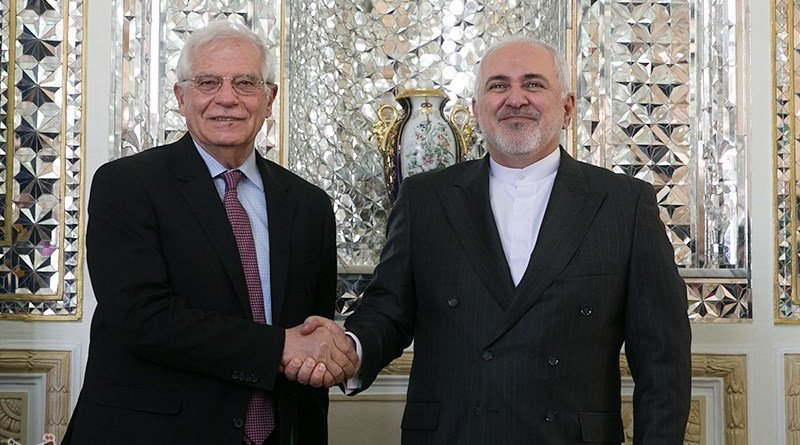 Iranian Foreign Minister Mohammad Javad Zarif and High Representative of the European Union Josep Borrell. Photo Credit: Tasnim News Agency