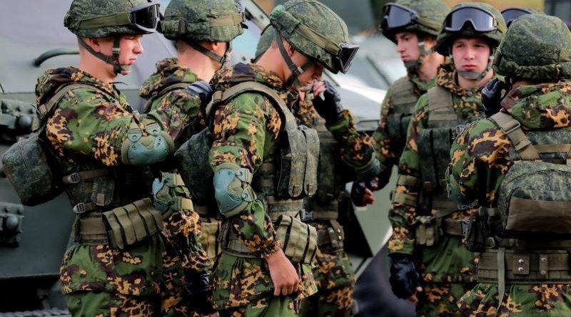 Members of Belarus' military. Photo Credit: RFE/RL