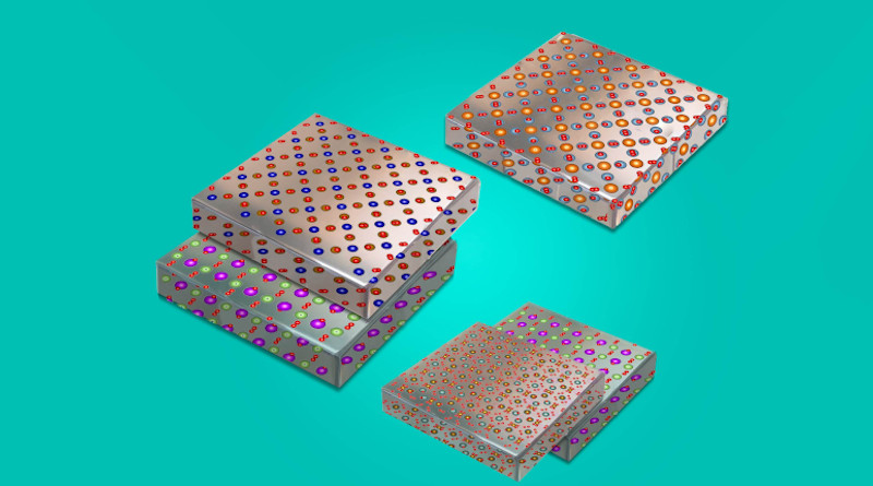 With a new technique, MIT researchers can peel and stack thin films of metal oxides — chemical compounds that can be designed to have unique magnetic and electronic properties. The films can be mixed and matched to create multi-functional, flexible electronic devices, such as solar-powered skins and electronic fabrics. Image: Felice Frankel