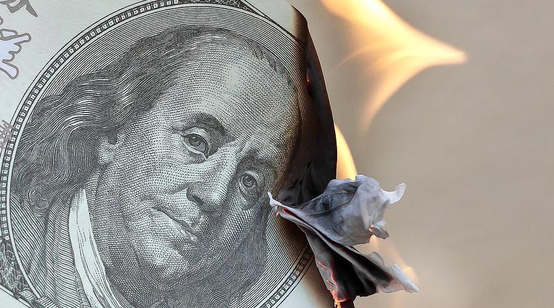 Money Burn Dollar Waste Finance Fire Investments