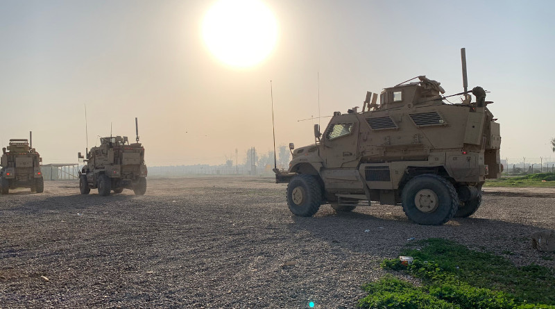 Soldiers travel to a range at Camp Taji, Iraq, Feb. 7, 2020. Photo Credit: DoD
