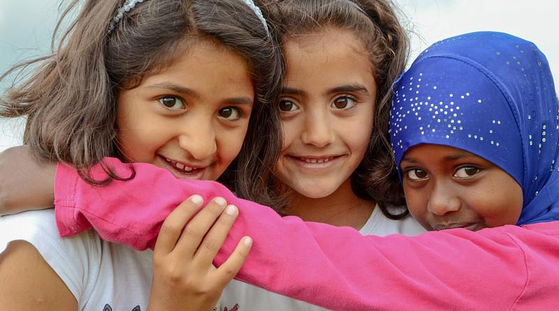 People Refugee Children Girls Portrait Child