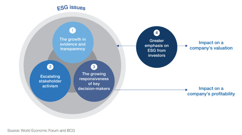 Framework on how ESG issues become financially material over time