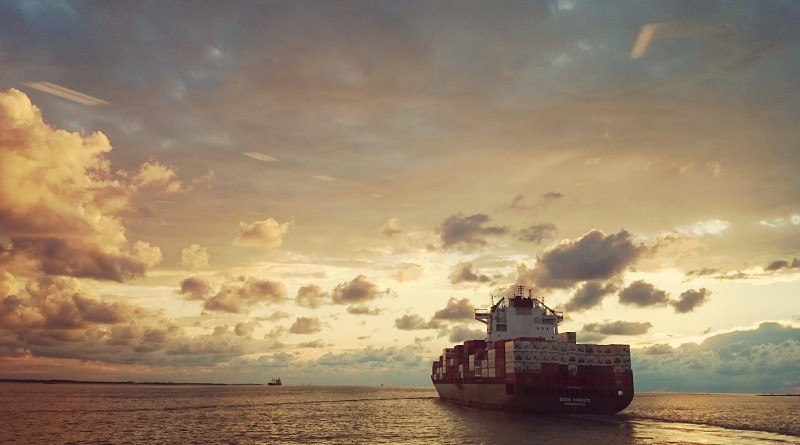 South China Sea Ship Sea Sunset Clouds Water Evening Sun Compass