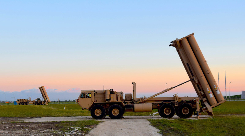 U.S. Terminal High Altitude Area Defense missile launchers point skyward at Naval Support Facility Deveselu, Romania, Sept. 1, 2019. Photo Credit: Navy Lt. Amy Forsythe