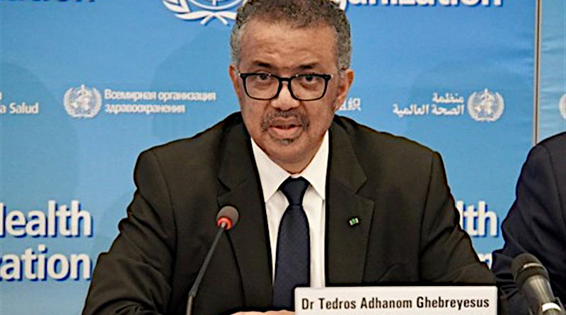 WHO Director-General Tedros Adhanom Ghebreyesus. Photo Credit: Tasnim News Agency