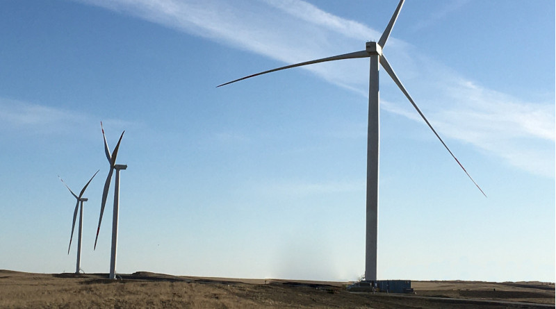Badamsha Wind Farm site in Kazakhstan. Photo Credit: Eni