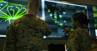 Marines with Marine Corps Forces Cyberspace Command in the cyber operations center in Lasswell Hall at Fort Meade, Md., Feb. 5, 2020. Photo Credit: DOD