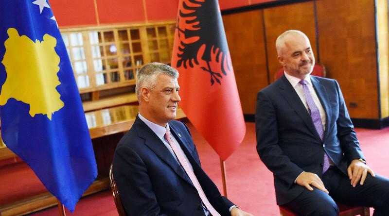 The President of the Republic of Kosovo Hashim Thaçi and Albanian Prime Minister Edi Rama. Photo Credit: President of the Republic of Kosovo