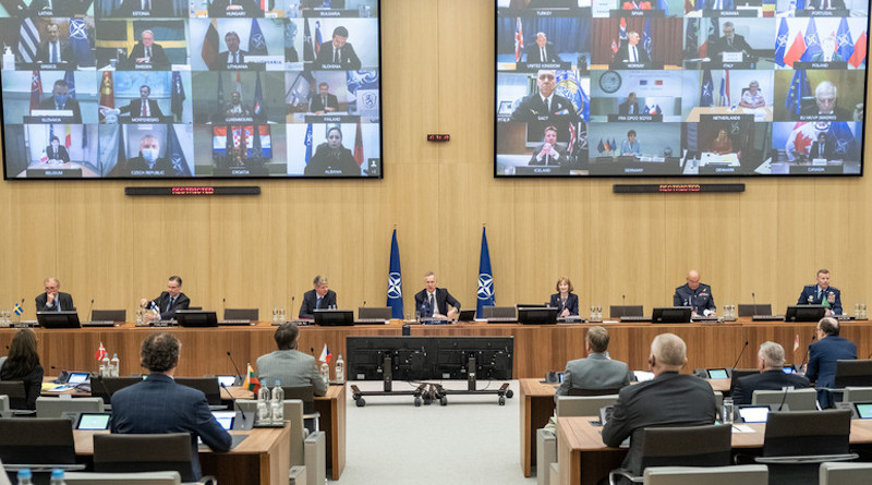 NATO Defence Ministers meet by secure video conference to decide the Alliance's next steps in the fight against Covid-19. Photo Credit: NATO
