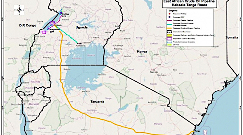 East African Crude Oil Pipeline (EACOP). Image Credit: BackTrack