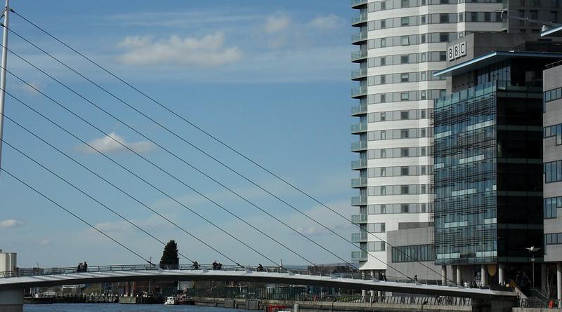 BBC Salford Quays Docklands Manchester Media City Uk
