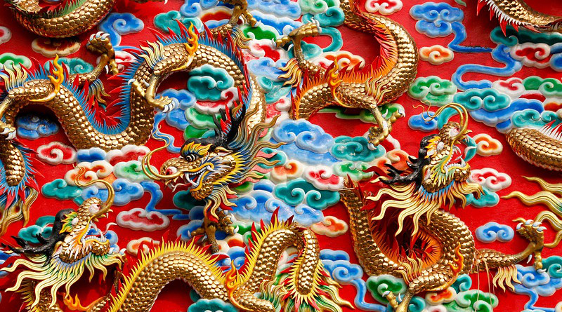 Dragons China Thailand Ornament Architecture