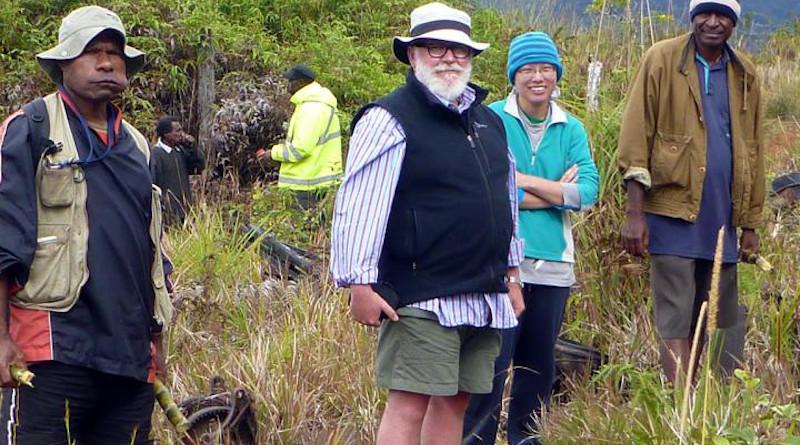 University of Otago Professor of Archaeology Professor Glenn Summerhayes with field crew in Papua New Guinea. CREDIT University of Otago