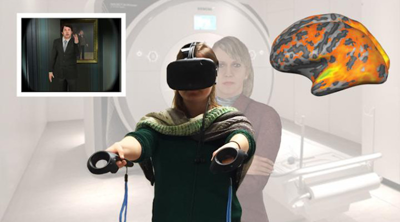 First person embodiment virtual reality training activates brain networks to help you identify more with others. CREDIT de Borst et al., eNeuro 2020