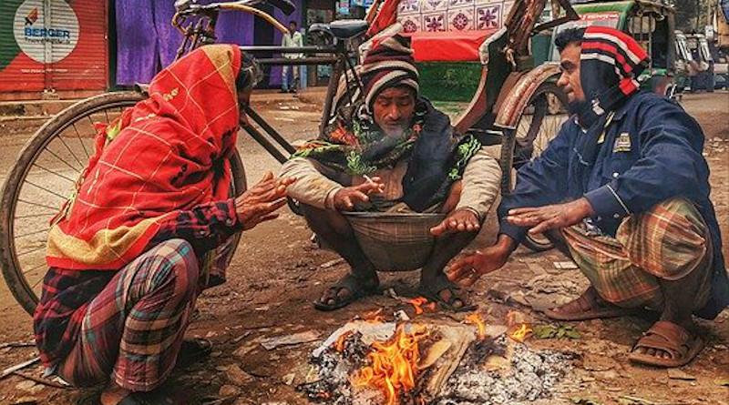 Winter Morning Life Style Poor People Bangladesh