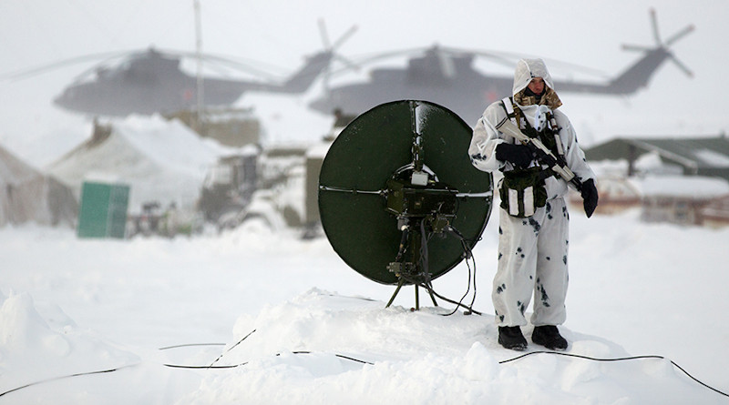 Russian soldier on Kotelny Island. Photo Credit: Ministry of Defense of the Russian Federation
