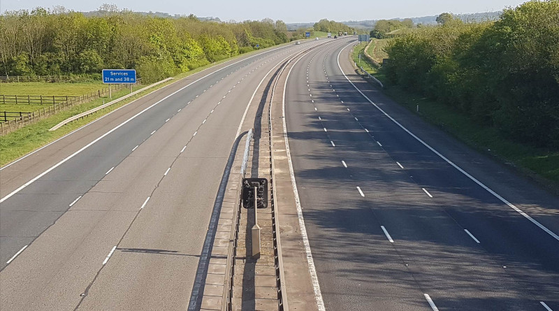 The M40 at rush hour during covid-19 Credit: University of Warwick
