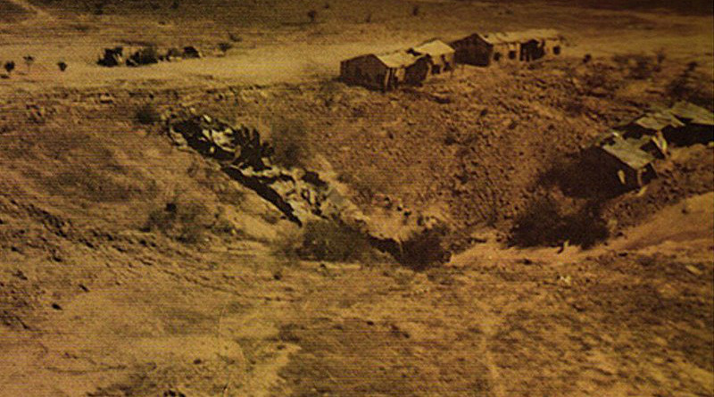 Shakti-I bomb crater on May 11, 1998 from Pokhran nuclear test. Photo Credit: Ministry of Defence (GODL-India)