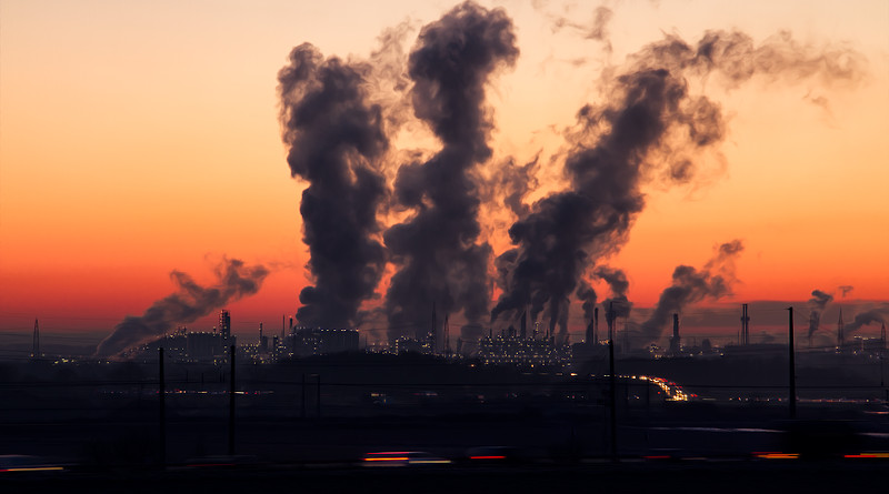 Power Plant Industry Sunrise Air Pollution