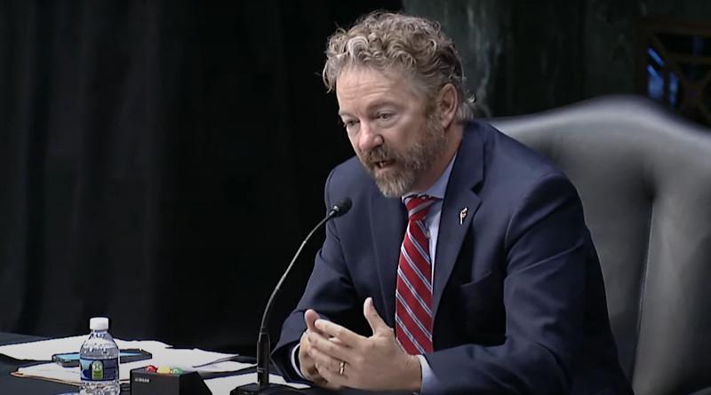 Senator Rand Paul. Photo Credit: YouTube Rand Paul